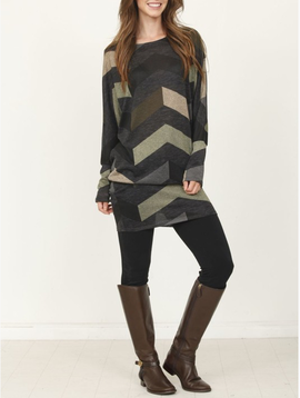 GCBLove Chevron Edge Tunic