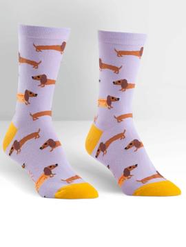 Hot Dogs Crew Socks