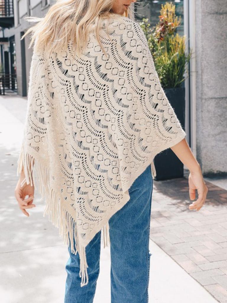 GCBLove Crochet Lace Poncho