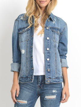 C'est Toi Denim Oversized Denim Jacket