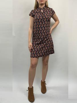 Zahara 3 Button Business Dress, Little Paisley