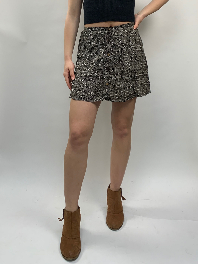 Zahara Perla Button Skirt, Eclipse