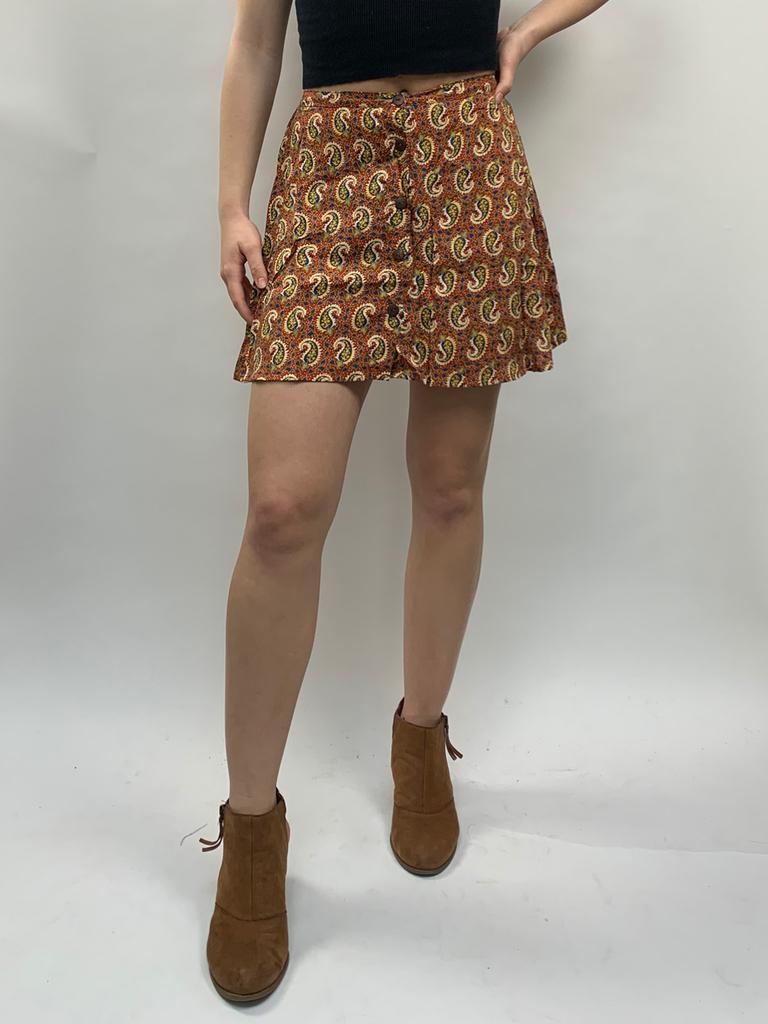 Zahara Perla Button Skirt, Little Paisley