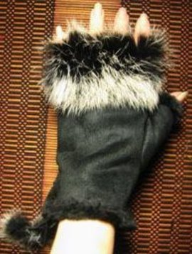 Beyond Envy Suede And Fur Glove