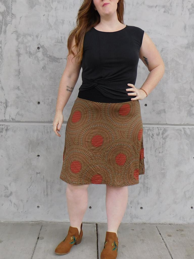Gypsy Chic Band Skirt, Mandala