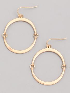 GCB Flat Hoop Gold Earrings