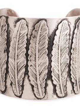 Southwest Silver Feather Cuff