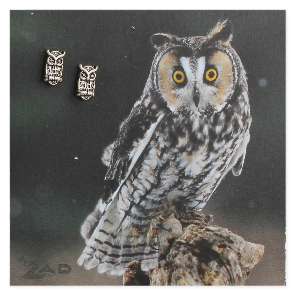 Zad Silver Horned Owl Posts