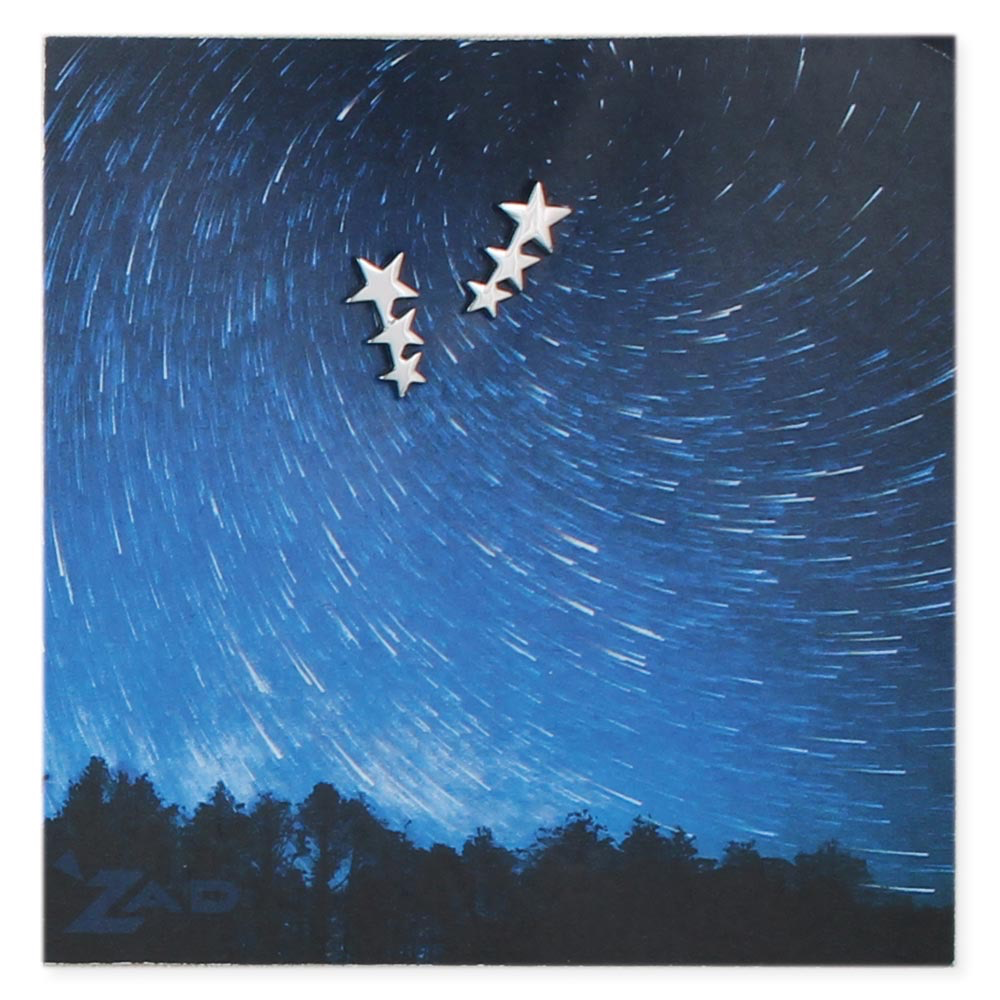 Silver Three Stars Post Earring