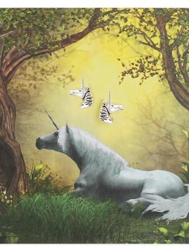 Zad Silver Unicorn Post Earring