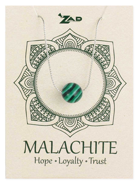 Gypsy Chic Malachite Bead Silver Necklace