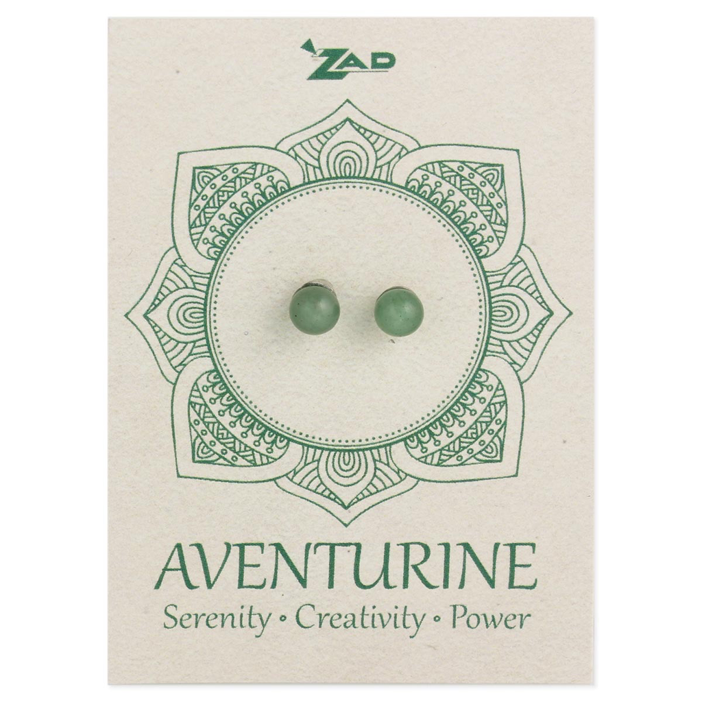 Aventurine Round Post Earring