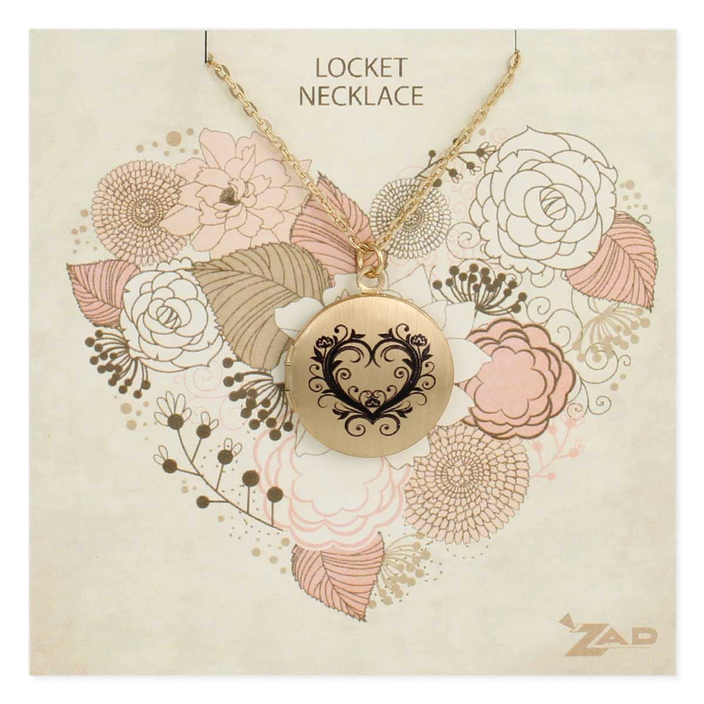 Gypsy Chic Gold Heart Locket