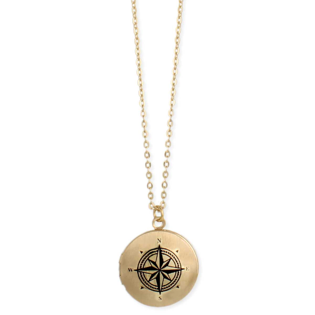Gypsy Chic Gold Compass Locket