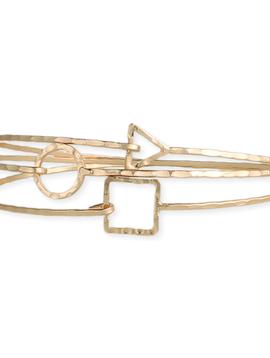 GCBLove Minimal Gold Square Bracelet