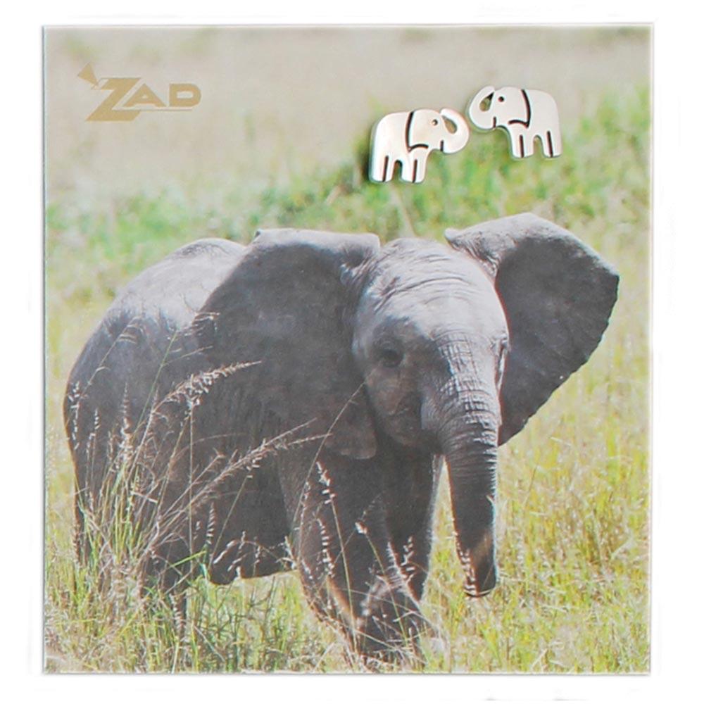 Silver Elephant Post Earrings