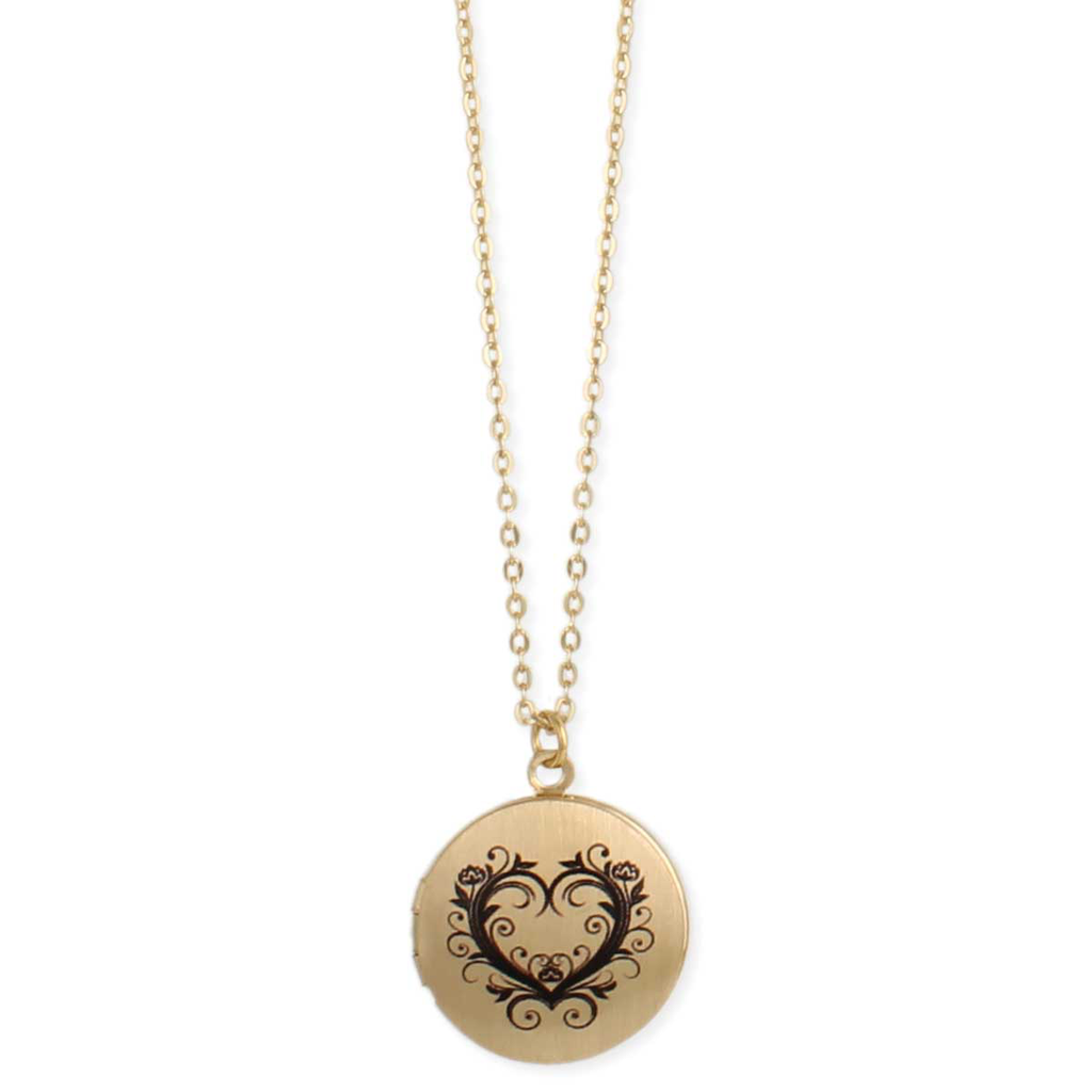 Gypsy Chic Gold Heart Locket