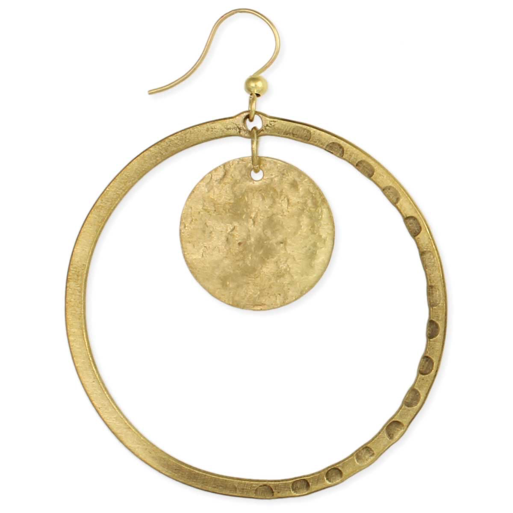 GCBLove Half Texture Round Earring