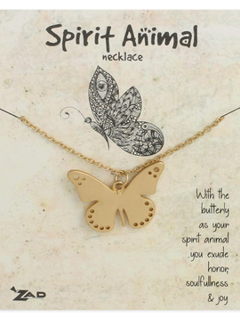GCBLove Gold Butterfly Spirit Animal Necklace