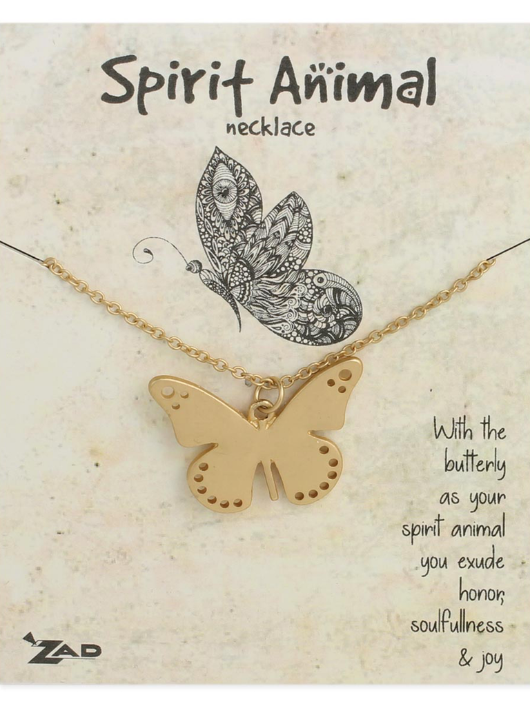 GCBLove Gold Butterfly Spirit Animal Necklace