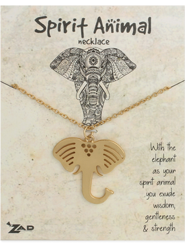 GCBLove Gold Elephant Spirit Animal Necklace