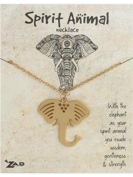 GCBLove Gold Elephant Spirit Animal Necklace