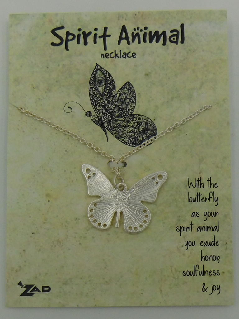 GCBLove Silver Butterfly Spirit Animal Necklace