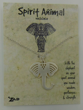 GCBLove Silver Elephant Spirit Animal Necklace