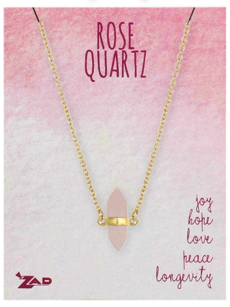 GCBLove Healing Rose Quartz Necklace