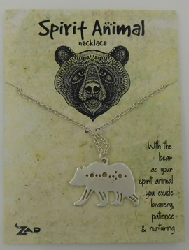 GCBLove Silver Bear Spirit Animal Necklace
