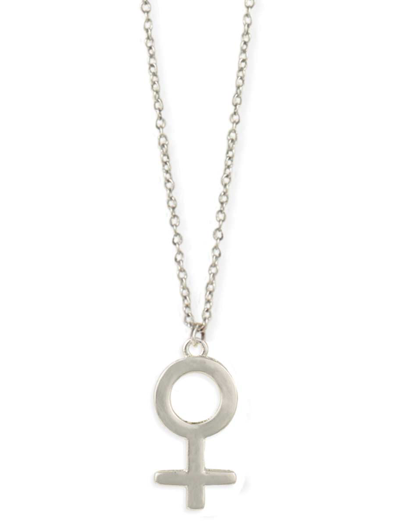 Zad Silver Female Sign Necklace