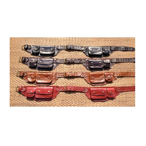 Max Leather Mountain Tribal Belt