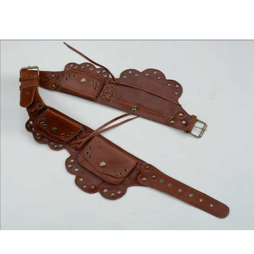 Max Leather Delicate Cut Tribal Belt