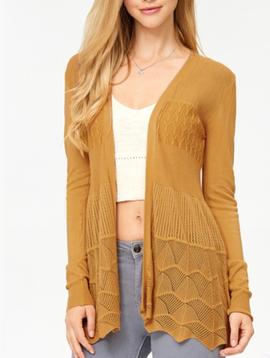 Lovely Peaks Crochet Cardigan