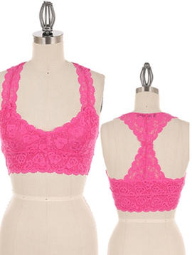 Color Story Lacey Racer Bra Tank