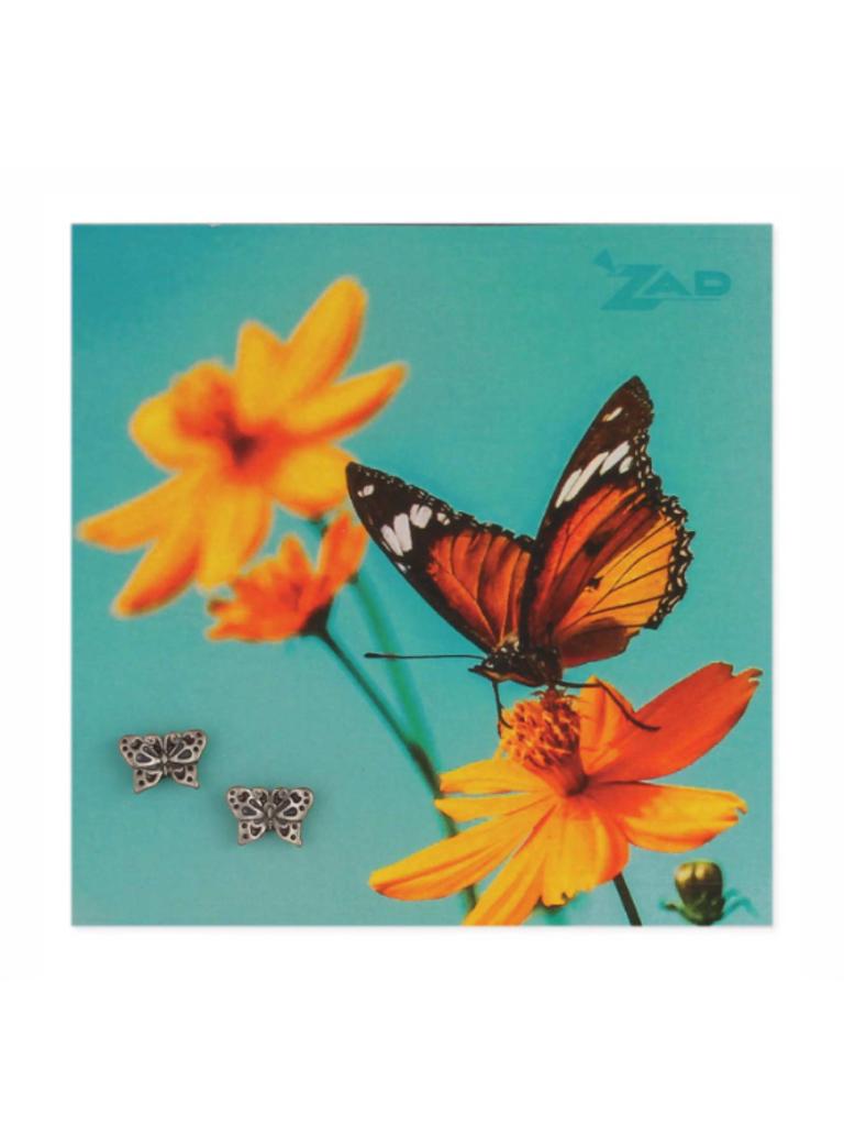 Zad Flights of Fancy Silver Butterfly Post