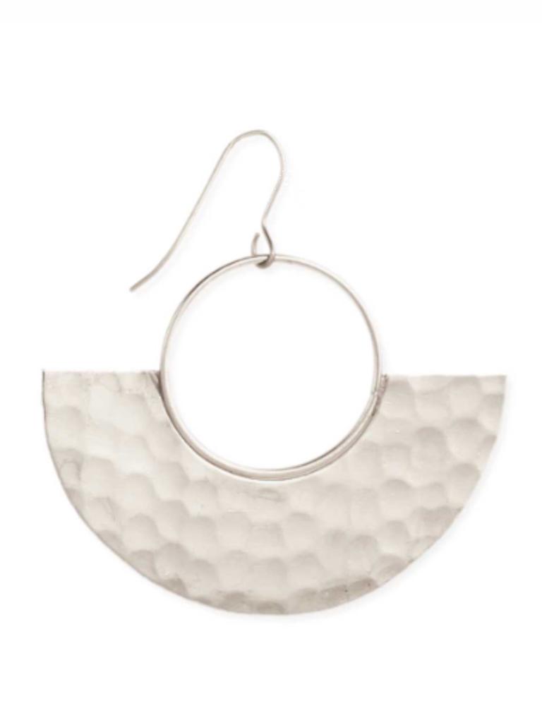 Silver Modern Goddess Earrings