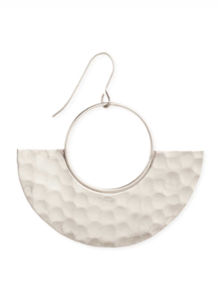 Zad Silver Modern Goddess Earrings