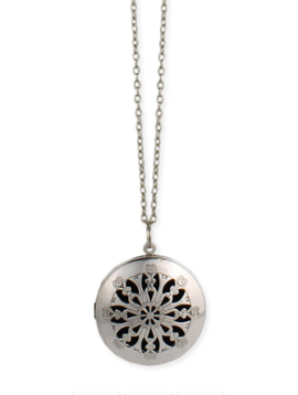 Gypsy Chic Silver Essential Oil Diffuser Locket