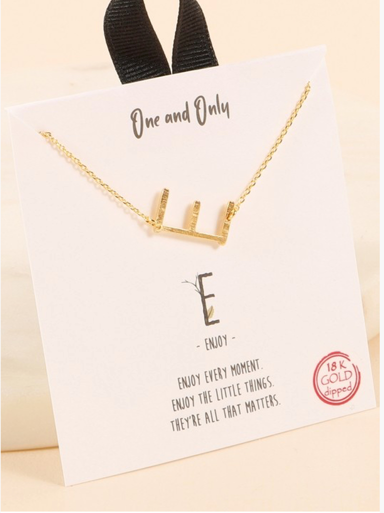 Small Initial Short Necklace