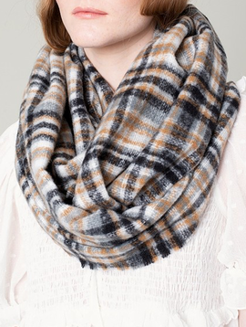 Avenue Zoe Soft Plaid infinity Scarf