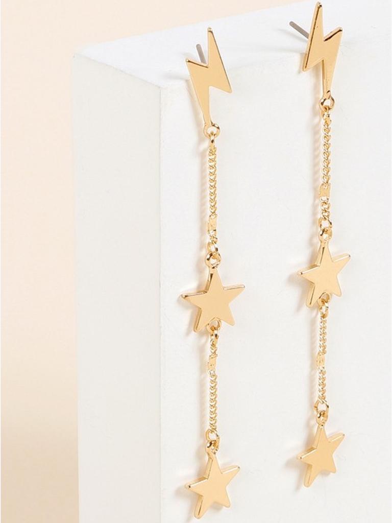 Thunderbolt Dangle Earrings
