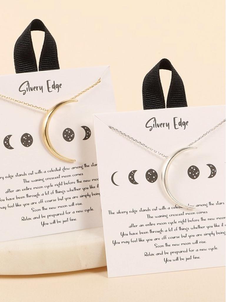 Avenue Zoe Crescent Moon Necklace