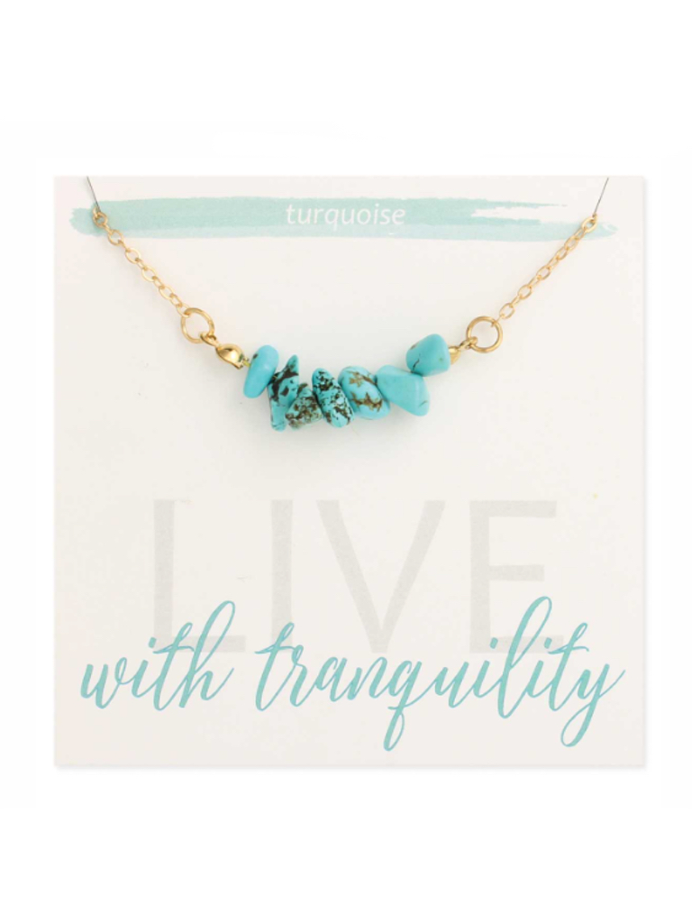 Turquoise Chips Gold Necklace