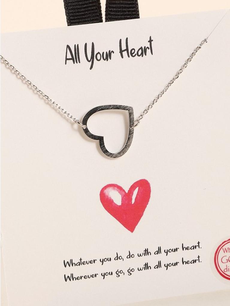 Avenue Zoe Heart Charm Necklace
