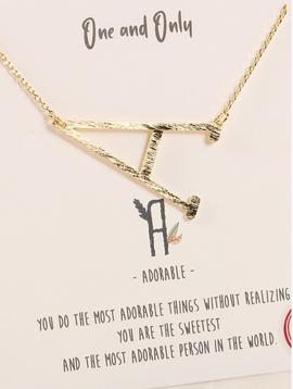 Avenue Zoe Initial Short Necklace