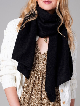 Avenue Zoe Raw Edge Wrap Scarf