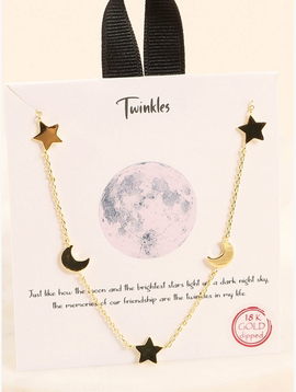 Avenue Zoe Star Cresent Moon Necklace