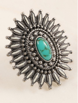 Avenue Zoe Western Stone Star Ring