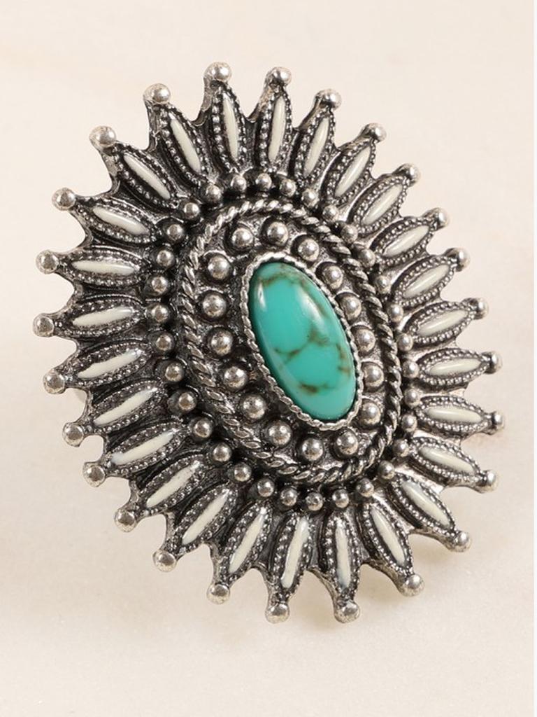 Avenue Zoe Western Stone Star Ring